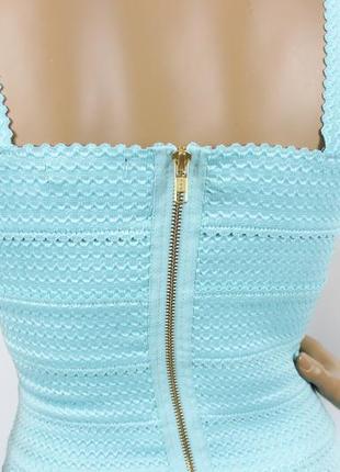 Новое бирюзовое бандажное платье new look8 фото