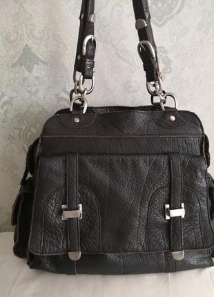 Шикарная большая кожаная сумка issie b, london3 фото