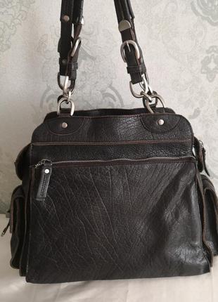 Шикарная большая кожаная сумка issie b, london4 фото