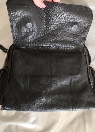 Шикарная большая кожаная сумка issie b, london8 фото