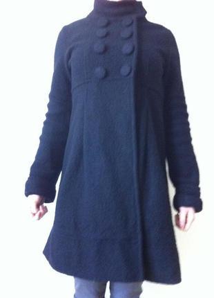 Отличное пальто zara (100% шерсть)