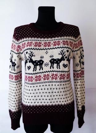 Тёплый свитер в норвежском стиле р.м