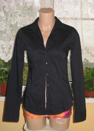 Классическая рубашка с длинным рукавом