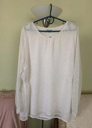 Шифоновая блуза в пупырышки для полных женщин