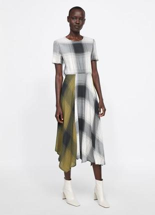 Zara платье в клітку, s