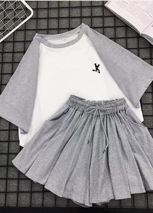 Акция костюм футболка юбка-шорты