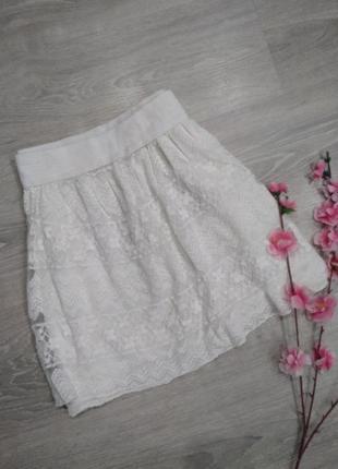 ❤️ белая кружевная юбка