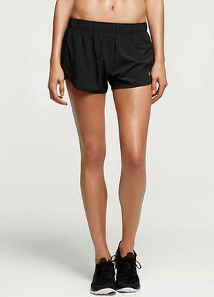 Женские чёрные спортивные шорты на резинке 36\8\s шорты для бега\фитнеса workout