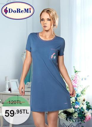 Doremi комбинированная ночная рубашка с короткими рукавами