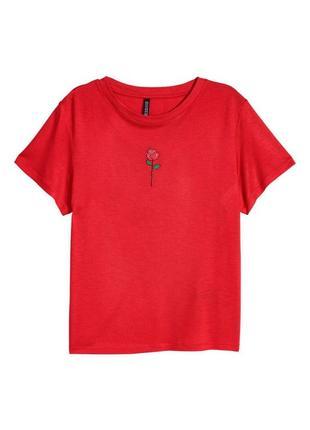 Красная футболка h&m