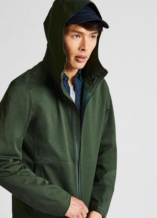 Мужская куртка парка uniqlo blocktech вето и водонепроницаемая
