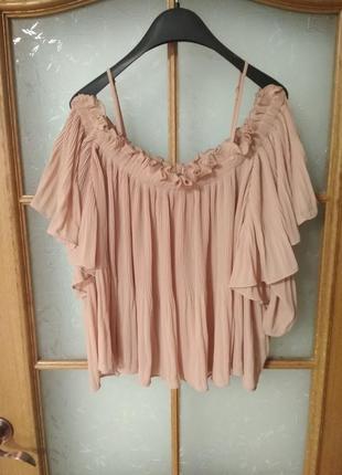 Шикарная блуза с открытыми плечиками от viva couture, p. xl