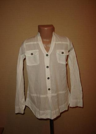 Белая рубашка, блузка на 7-8 лет