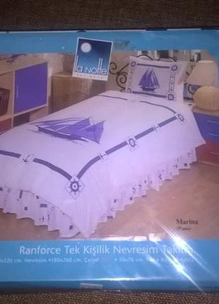 Комплект шикарного постельного белья la notte, хлопок 100 %