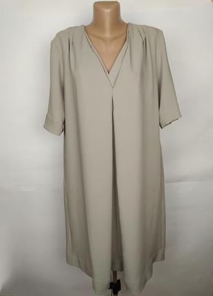 Платье трендовое серое а-образное оригинал cos uk 14/42/l