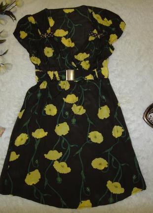 Итальянское легкое вискозное платье, яркое