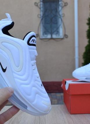 Шикарные женские кроссовки nike air max 720 white белые3 фото