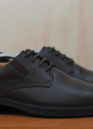 Коричневые кожаные туфли мужские hotter, 42 размер. оригинал