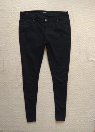 Стильные черные джинсы скинни collezione, 14 размер.