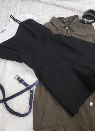 Льняной ромпер⠀комбинезон шортами на тонких бретелях