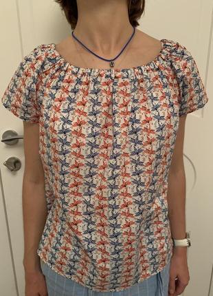 Рубашка блузка @don.bacon белая в стрекозы