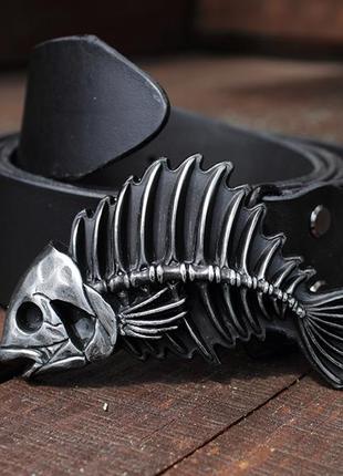 Кожаный ремень «рыба»