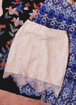 Только до 30/11! красивейшая юбка с кружевом