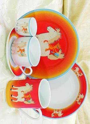 Детский набор посуды на 5 предметов karolina nora s-02120 фарфор
