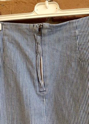 """Трендовая полосатая юбка""""h&m""""р.м(38)5 фото"""