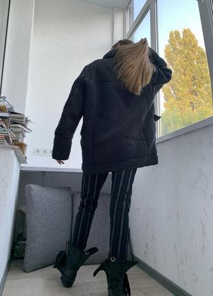 Кожух косуха пальто дубленка  меховая оверсайз h&m3 фото
