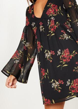 Шифоновое платье с цветочным принтом2 фото
