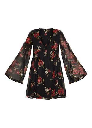 Шифоновое платье с цветочным принтом5 фото
