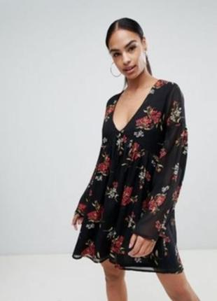Шифоновое платье с цветочным принтом6 фото