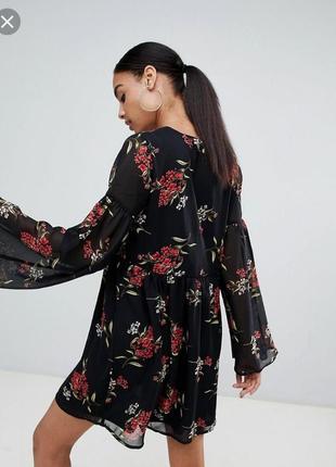 Шифоновое платье с цветочным принтом7 фото