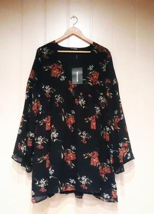 Шифоновое платье с цветочным принтом8 фото