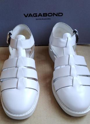 Новые полностью кожаные туфли стильные босоножки сандалии vagabond в коробке2 фото