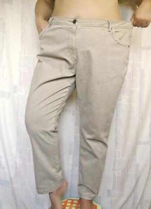 """Шикарные бежевые джинсы слимы """"devid emanuel"""", 73% хлопка2 фото"""