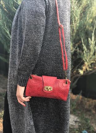 Стильная сумочка-клатч из натуральной кожи.8 фото