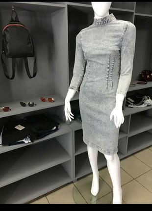 Стильное джинсовое платье ware denim1 фото