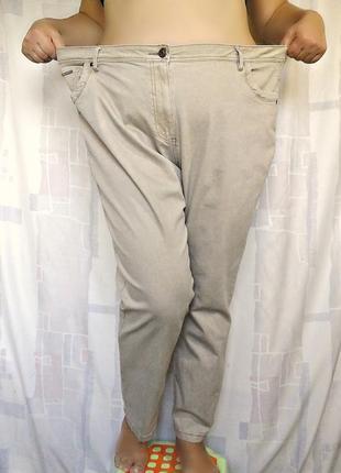 """Шикарные бежевые джинсы слимы """"devid emanuel"""", 73% хлопка3 фото"""