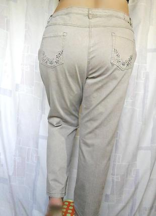 """Шикарные бежевые джинсы слимы """"devid emanuel"""", 73% хлопка5 фото"""