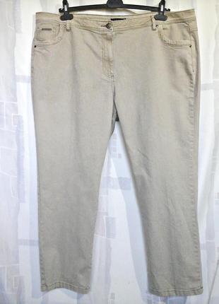 """Шикарные бежевые джинсы слимы """"devid emanuel"""", 73% хлопка6 фото"""