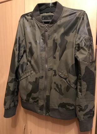 Камуфляжный бомбер , курточка1 фото