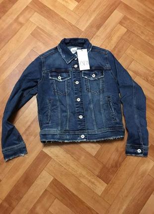 Джинсовая куртка zara5 фото