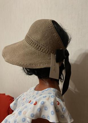 Текстильная шляпа-козырёк1 фото