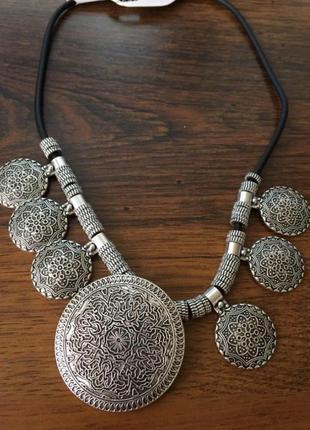 Шикарное ожерелье в этническом стиле3 фото