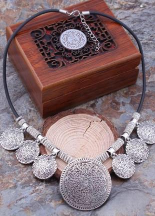Шикарное ожерелье в этническом стиле4 фото