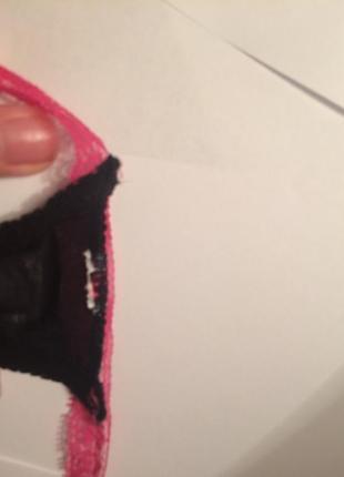 Контрастные трусики -стринги розовый+ чёрный .нежные и яркие одновременно3 фото