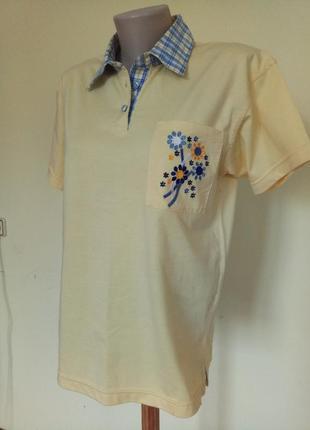 Хлопковая футболка тенниска1 фото