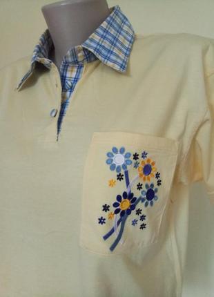 Хлопковая футболка тенниска3 фото